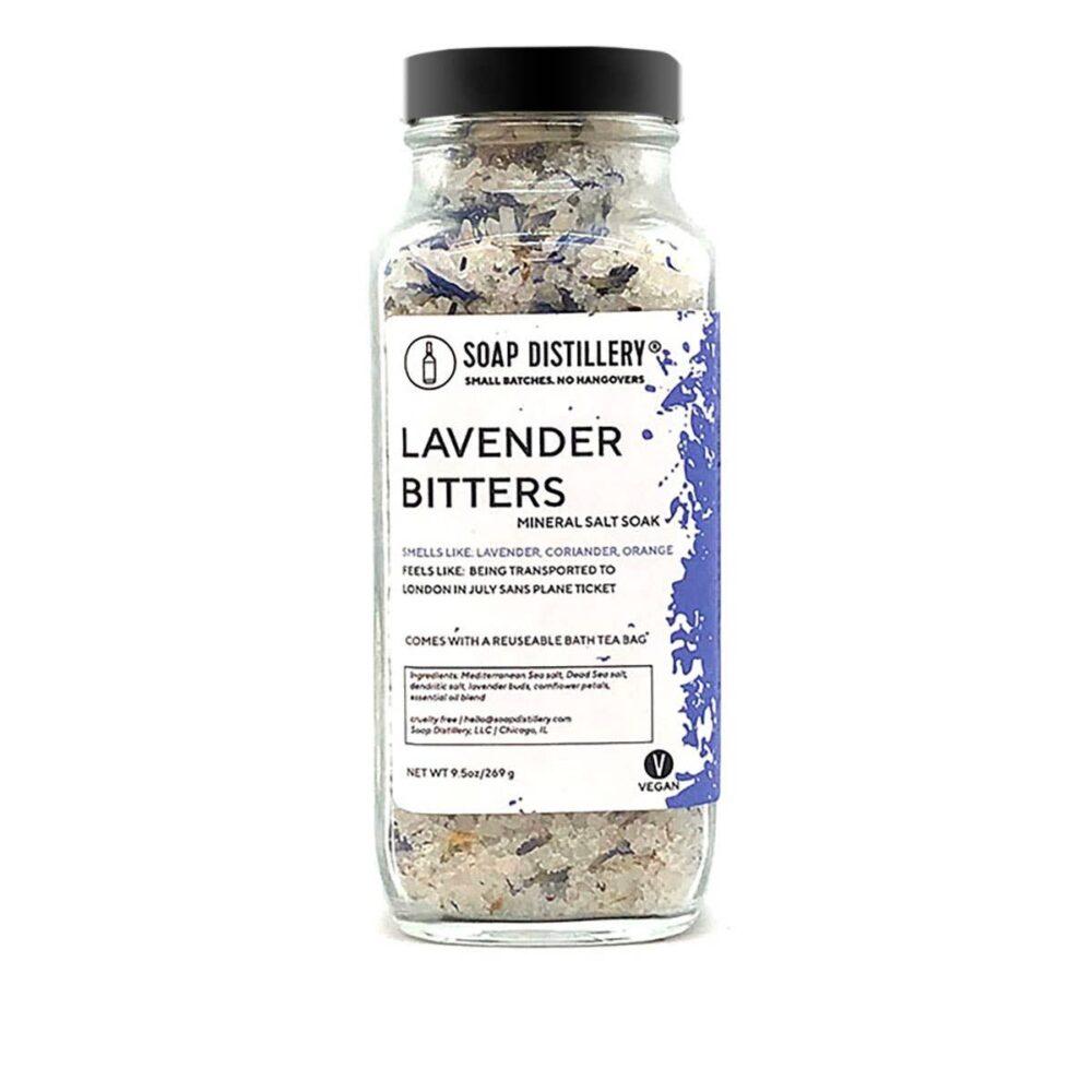 Soap Distillery Lavender Bitters Mineral Salt Soak