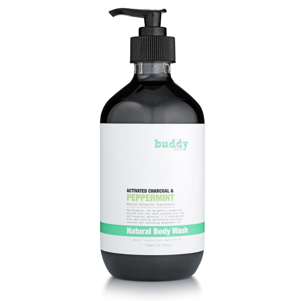 Buddy Scrub Activated Charcoal & Peppermint Body Wash