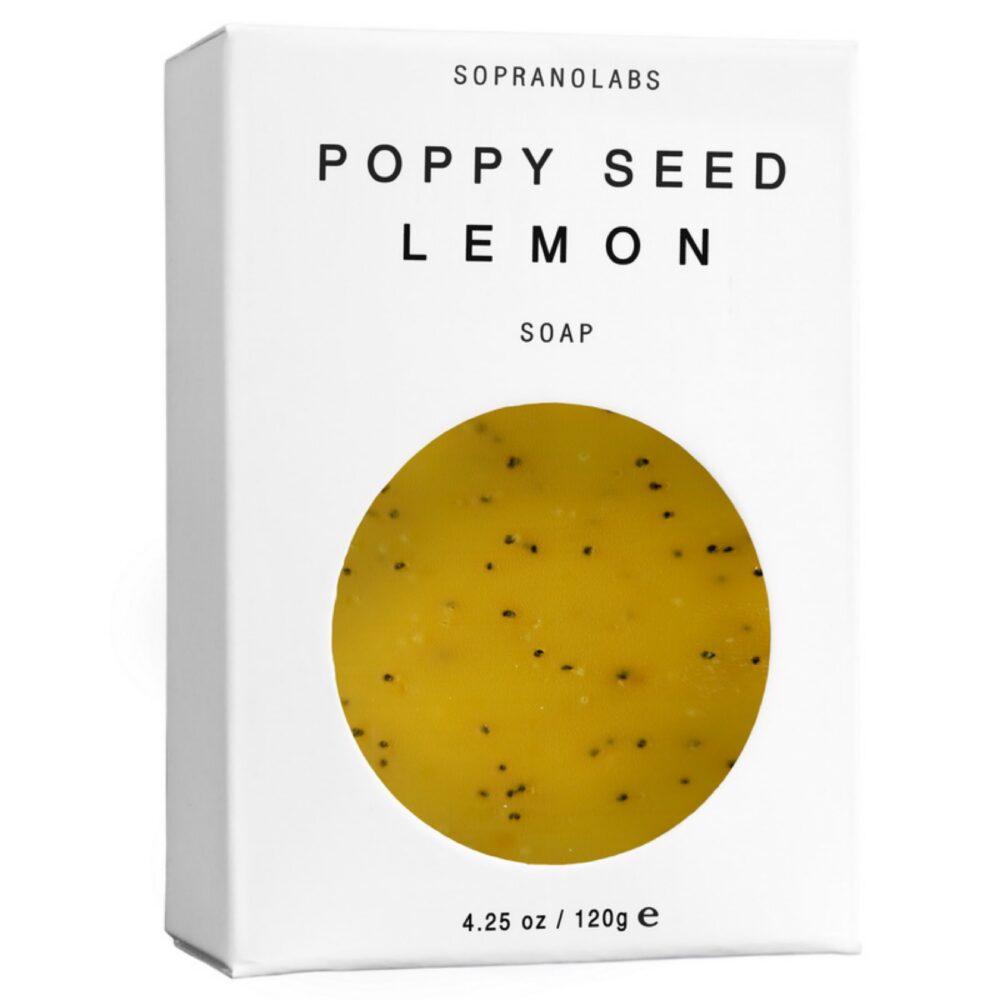 SopranoLabs Poppy Seed Lemon Vegan Soap