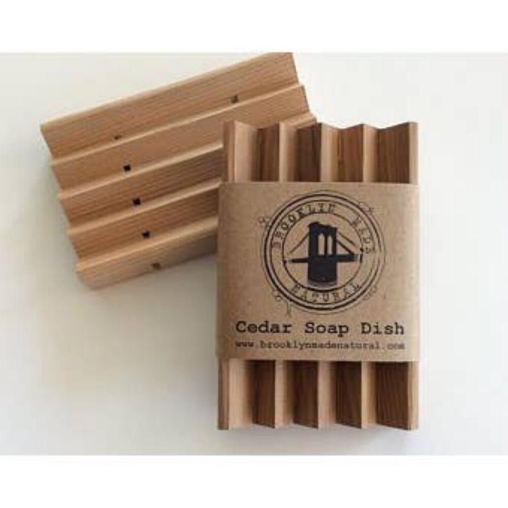 Brooklyn Made Natural Cedar Soap Dish