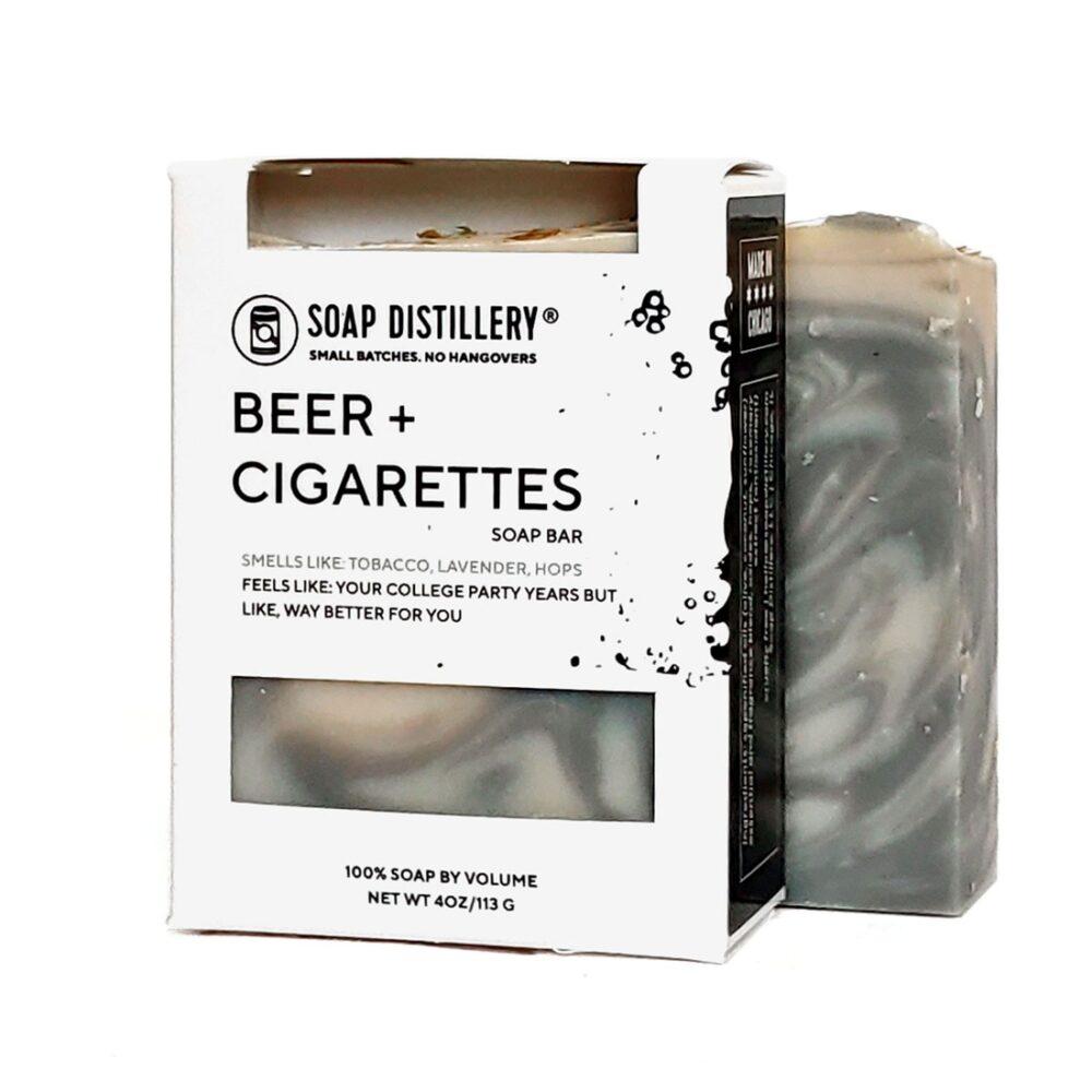soap distillery beer + cigs