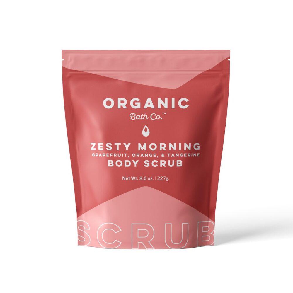 organic bath scrub morning