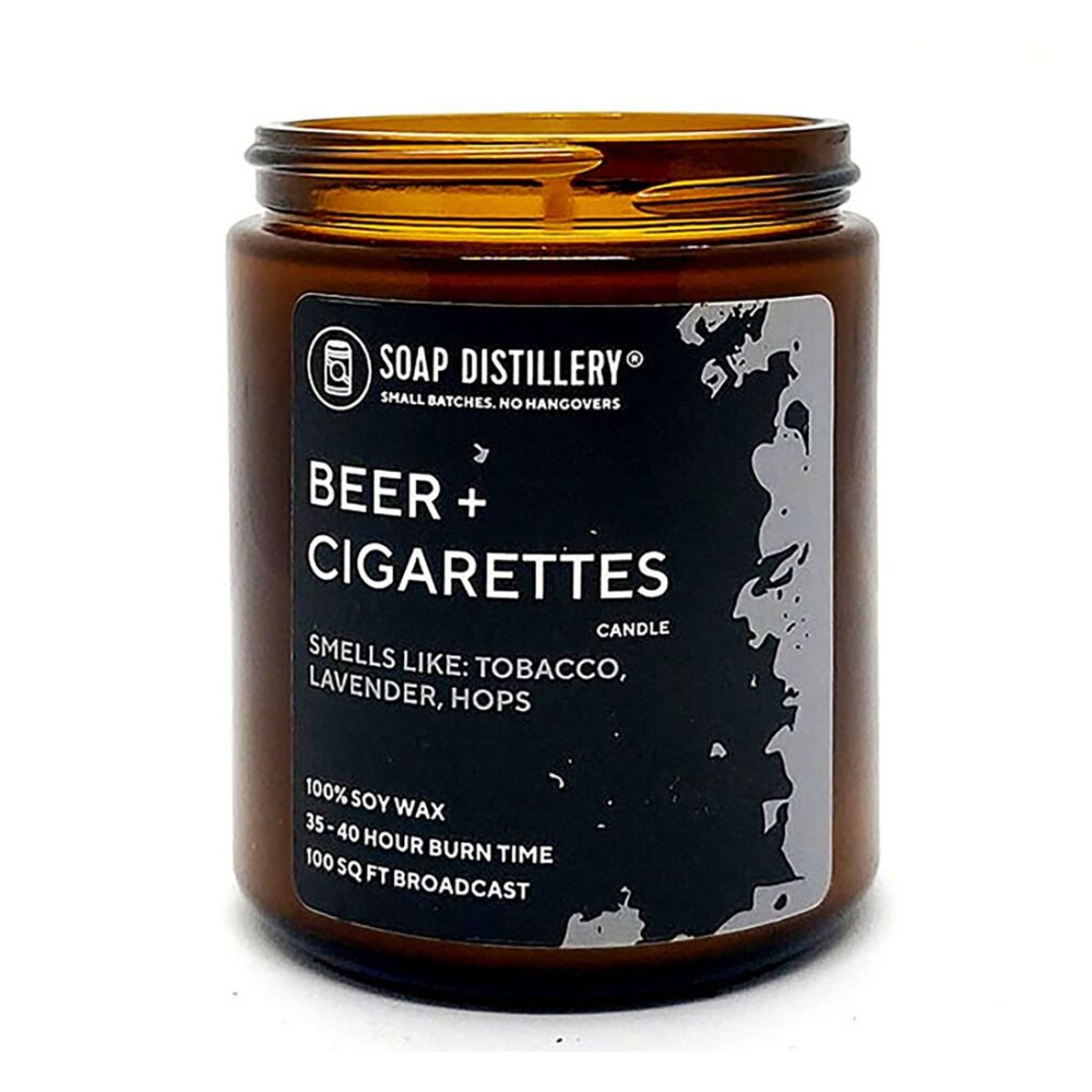 soap distillery beer cigs candle